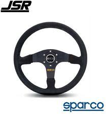 Sparco R 375 Steering Wheel 3-Spoke Black Suede PN: 015R375PSN