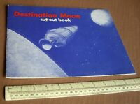1969 Vintage The Destination Moon Story & Cut-Out Book. Crown Art Publishers