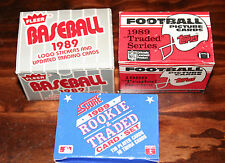 1989 Lot of Baseball/Football Picture Cards-All Complete Sets-MINT