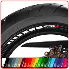 APRILIA RSV4 wheel rim stickers decals - choice of 20 colours - rr abs rsv 4