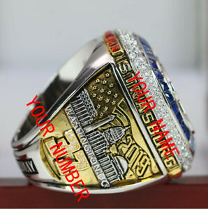 Custom Name&No. 2019 Washington Nationals World Series Championship Ring 8-14Sz