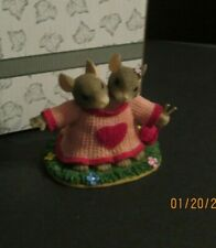 Fitz & Floyd Charming Tails We Are A Perfect Fit Figurine Rp