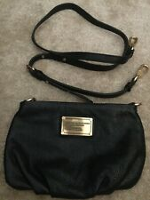 5859fb752e75 MARC by MARC JACOBS Black Leather Mini Classic Q Percy Crossbody NEVER USED!