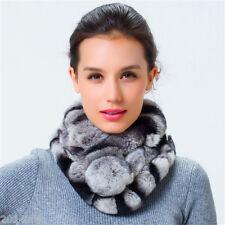 winter fashion Pure fur scarf women real rex rabbit collar