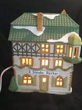 Dept 56 Porcelain Lighted Alpine Village Building E Staubr Barker Dated 1986