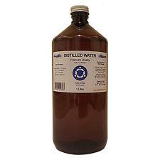Distilled Water - 1 Litre (1L) - Pure Steam Distilled - 0ppm