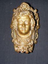Ornate Victorian 1800's Brass Face Mechanical Billiard Table Pocket Drop Plate