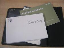 HONDA CIVIC 5 DOOR  OWNERS MANUAL HANDBOOK PACK   2005-2011  petrol & diesel