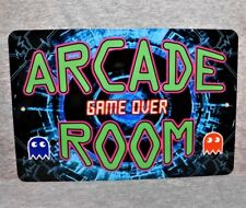 "Metal Sign ARCADE ROOM video games retro gamer gaming machine system 8"" x 12"""