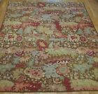 NEEDLEPOINT PICTORIAL TAPESTRY HAND WOVEN WOOL ORIENTAL RUG  CLEANED 8.5 x10.9