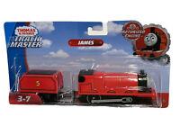 Motorized Trackmaster Thomas & Friends Train Tank Engine James W/ Coal Tender