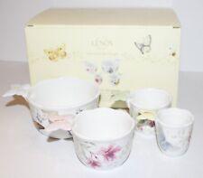 New ListingLenox Butterfly Meadow Measuring Cups Set of 4 Ceramic W/ Box