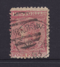 Victoria 4d Laureate Qv Used Sg 110 Perf 12. But Very Narrow Stamp.