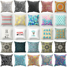 Geometric Bohemian Paisley Cotton Linen Cushion Cover Pillow Case Car Home Decor