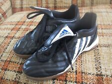 Adidas Mens 5 (37 1/3) Black White Indoor Soccer Shoes Art No. 662177