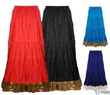 Full Length Cotton Patternless Plus Size Skirts for Women