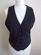 Women's Grey White Pinstripe V Neck Waistcoat Vest by Atmosphere Size 10