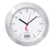Mebus Funk Wanduhr Saugnäpfe Thermometer Uhr 17 cm Funkuhr Badezimmeruhr Weiss