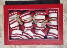 POTTERY BARN ~ FLATWARE STOCKING HOLDER or BABY BOOTIES or ORNAMENTS ~ CHRISTMAS