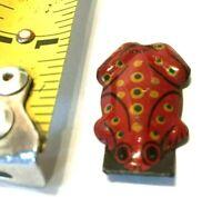 Vintage Cracker Jack Gumball Prize Toy Tin Litho Litograph Frog Japan Premium