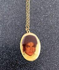 Michael Jackson Portrait Pendant Necklace With Chain
