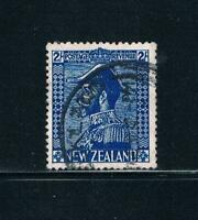 New Zealand - 1926 - 2sh KGV Admiral - Deep Blue - SC 182a [SG 466] USED 19