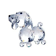 New Clear Glass Crystal Dog Figurines Paperweight Crafts Collection Table Decor