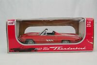 Anson 1963 Ford Thunderbird T-Bird Red Convertible Die Cast Metal Car 1:18 Scale
