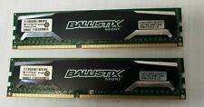 Crucial Ballistix Sport DDR3 1600MHz 16GB 2x8GB BLS8G3D1609DS1S00 Memory ✅