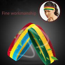 Unisex Sports Chic Sweat Sweatband Headband Yoga Stretch Head Band Hair Band,