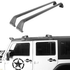 Full-length 2-Bar Roof Luggage Rack for Hard Top Jeep Wrangler 07-21 JK JL JT 4D