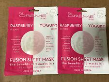 The Creme Shop - Raspberry & Yogurt Fusion Sheet Mask (Pack of 2)