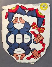 1950's SUPERMAN Dangle-Dandies MOBILE Kellogg's Corn Flakes Cereal box back