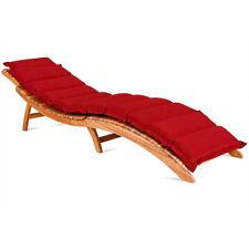 Coussin pour chaise longue - rouge - Rembourré 7 cm épaisseur avec lanières