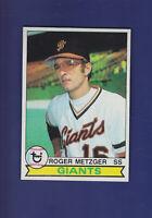 Roger Metzger 1979 TOPPS Baseball #167 (MINT) San Francisco Giants