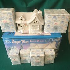 """Precious Moments 1992 """"531774"""" """"Sam'S House Set Of Seven"""" Complete With Boxes"""
