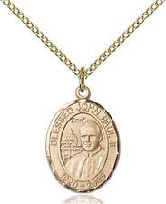 14KT Gold Filled Saint John Paul II Medal Pendant, 3/4 Inch