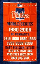 Philadelphia Phillies World Series Championship Flag 3x5 ft MLB Sports Banner