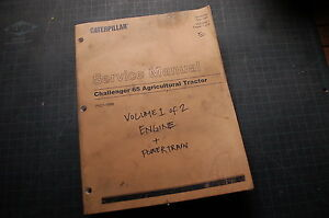 Caterpillar Challenger 65 Farm Tractor Service Manual repair agco engine shop