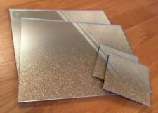 Gold Glitter Sparkle Glass Placemats X 4 & Coasters X 4 Contemporary