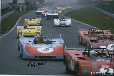 REINHOLD JOEST HAND SIGNED PORSCHE 908 6X4 PHOTO NUERBURGRING 1972 1.