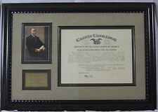 Calvin Coolidge - Document Signed as President; DS, Framed, Autograph