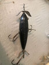 South Bend Underwater Minnow Vintage Wooden Fishing Lure Glass Eyes Circa 1921