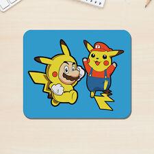 SUPER MARIO & Pikachu Tappetino Mouse Apple Mac PC Videogioco Pokemon 5mm Desk Pad