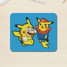 Super Mario & Pikachu Mouse Mat Mac PC Apple Video Game Pokemon 5mm Desk Pad