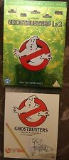GHOSTBUSTERS 1 AND 2 DVD 2 DISC GIFT SET INC 2 EPISODES OF RETRO CARTOON REAL GB