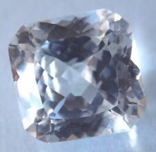 Asscher Flanders 7 x 7 mm 2.3 ct Natural White Sapphire Brilliant Solitaire Cut