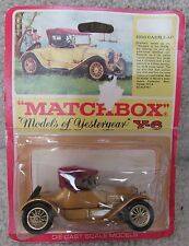 Matchbox Models of Yesteryear Gold 1913 Cadillac Y-6 Original Box NOS