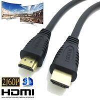GOLD 1080P 4K,2K HDMI CABLE LEAD SMART HD TV HDTV 3D METRE 1.5m 2m 5M Uk