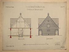 Bauzeichnung Viehhaus m. Schweinsstall, Handzeichnung 1912